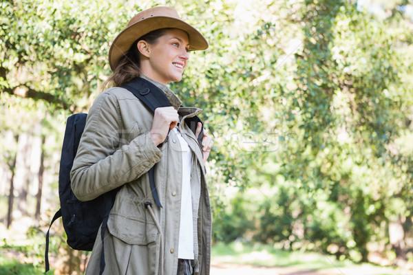 笑顔の女性 リュックサック 女性 幸せ 自然 ストックフォト © wavebreak_media