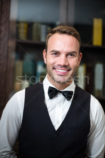 Portrait of smiling waiter  Stock photo © wavebreak_media
