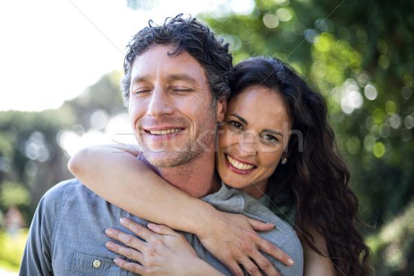 портрет улыбаясь жена муж счастливым Сток-фото © wavebreak_media
