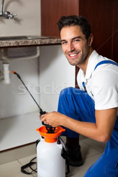 Ritratto uomo home lavoro stile di vita Foto d'archivio © wavebreak_media