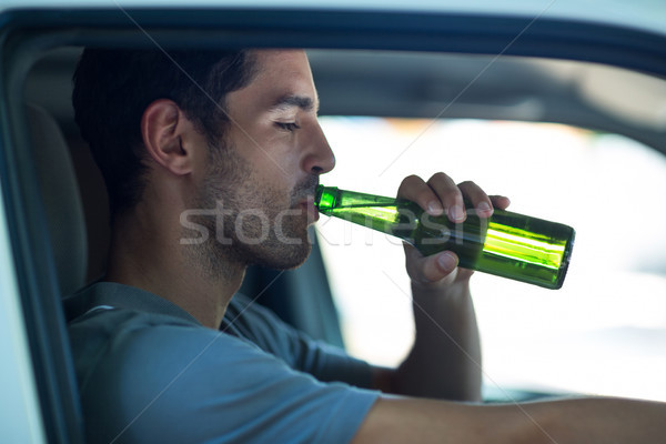 Close-up of man drinking alcohol  Stock photo © wavebreak_media