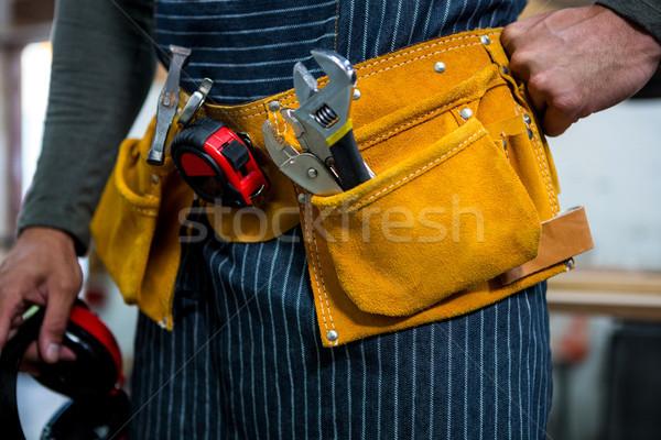 Zoom of carpenters belt Stock photo © wavebreak_media