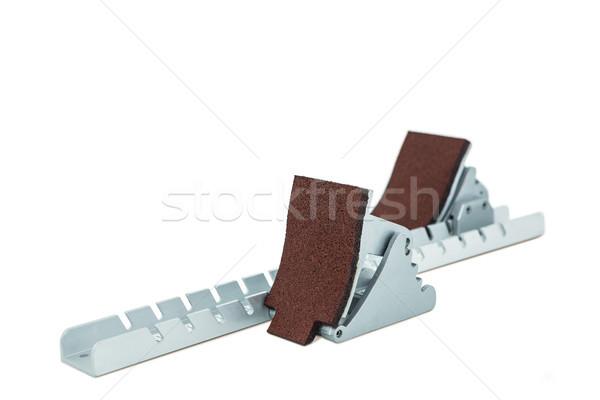 Starting block on white background Stock photo © wavebreak_media