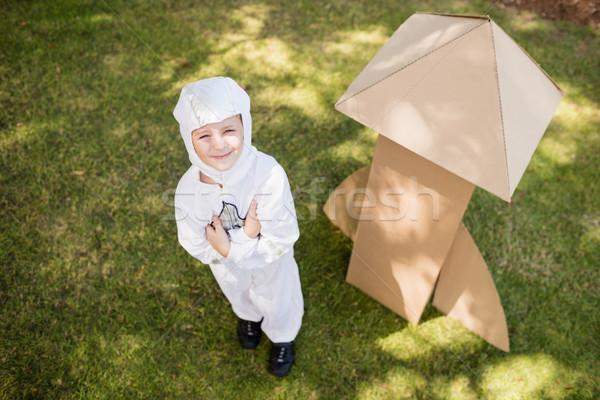 Boy is dressing up as an astronaut Stock photo © wavebreak_media