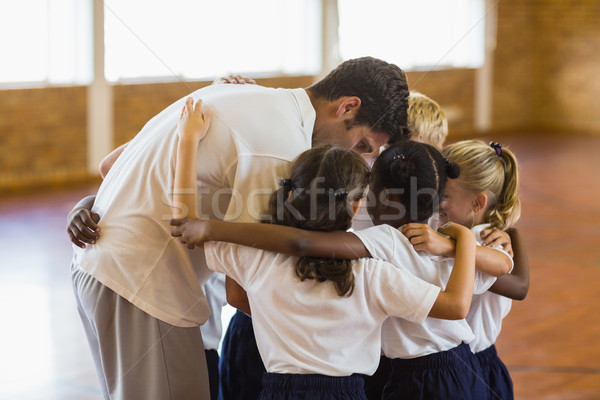 Sport Lehrer Studenten Schule Fitnessstudio Gebäude Stock foto © wavebreak_media