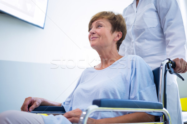 врач старший пациент коляске больницу Сток-фото © wavebreak_media
