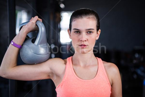 Retrato grave femenino atleta Foto stock © wavebreak_media