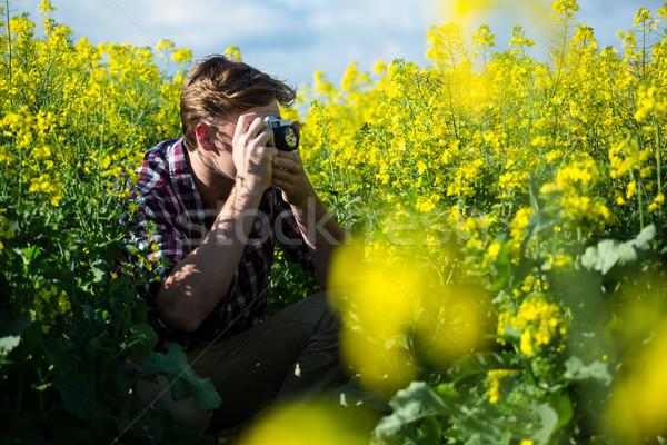 человека фотография камеры горчица области Сток-фото © wavebreak_media