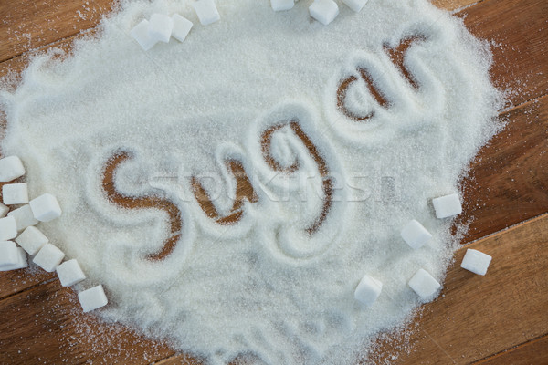 şeker yazılı toz ahşap tıbbi Stok fotoğraf © wavebreak_media