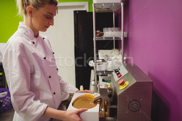ワーカー 充填 チョコレート キッチン ストックフォト © wavebreak_media
