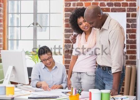 Zdjęcia stock: Graficzne · pracy · biurko · portret · biuro · Internetu