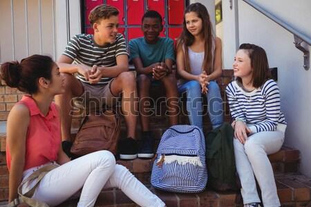 Studenti altro scala scuola ragazza felice Foto d'archivio © wavebreak_media