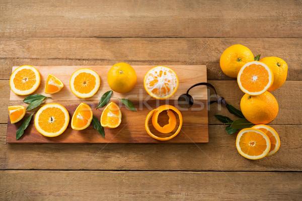 Overhead of oranges Stock photo © wavebreak_media