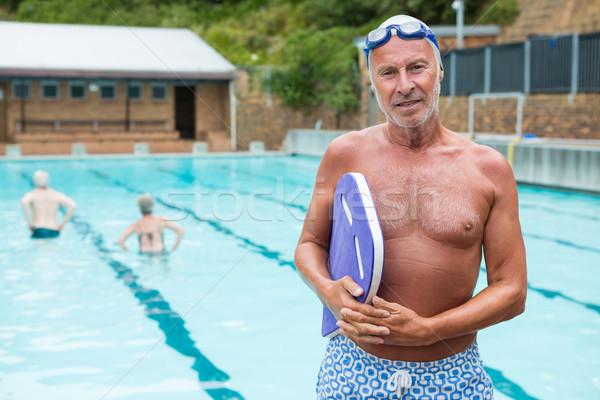 Mosolyog idős férfi tart sportok idős Stock fotó © wavebreak_media