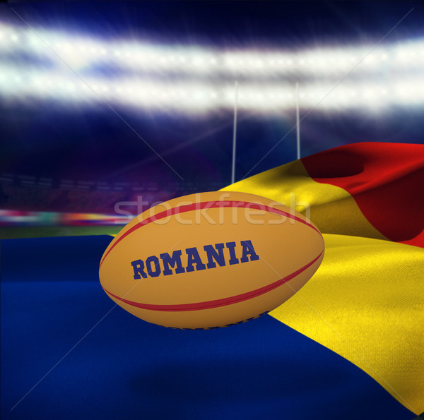 Image Roumanie ballon de rugby rugby stade Photo stock © wavebreak_media