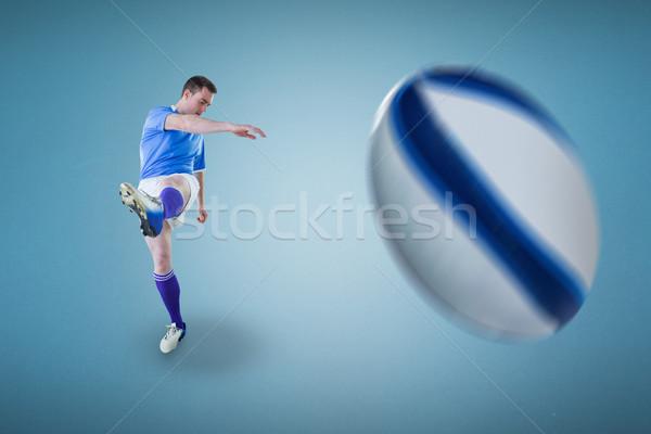 Afbeelding rugby speler Blauw Stockfoto © wavebreak_media