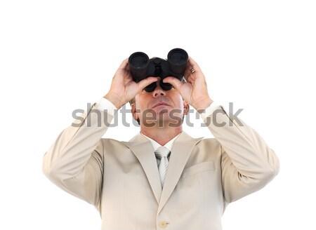 Affaires regarder jumelles portrait homme fond Photo stock © wavebreak_media