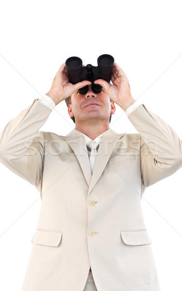 Przyjazny biznesmen lornetki dojrzały człowiek tle Zdjęcia stock © wavebreak_media