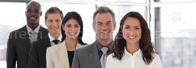 деловой женщины ведущий бизнес-команды молодые бизнесмен группа Сток-фото © wavebreak_media
