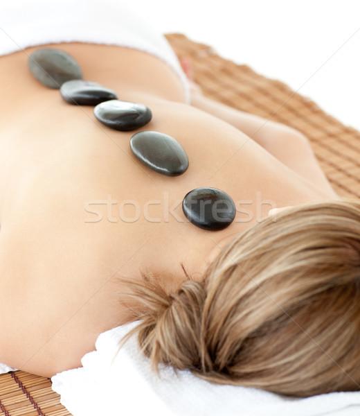 Donna massaggio tavola spa centro Foto d'archivio © wavebreak_media