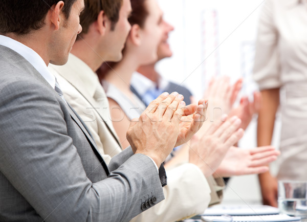 Portrait of a Business team applauding during a meeting Stock photo © wavebreak_media