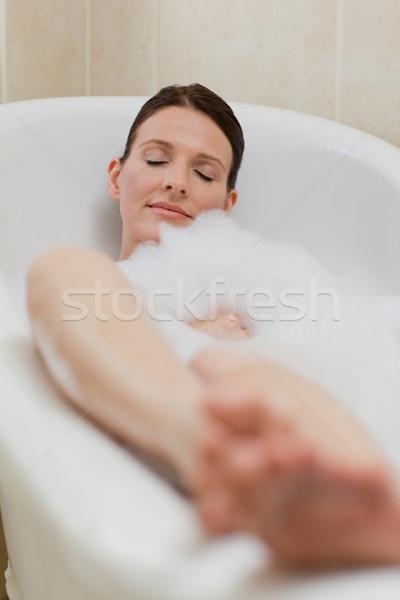 Belle femme bain femme heureux beauté Photo stock © wavebreak_media