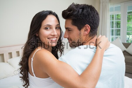 Hombre cereales esposa dormitorio Foto stock © wavebreak_media