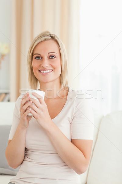Ritratto donna Cup caffè Foto d'archivio © wavebreak_media