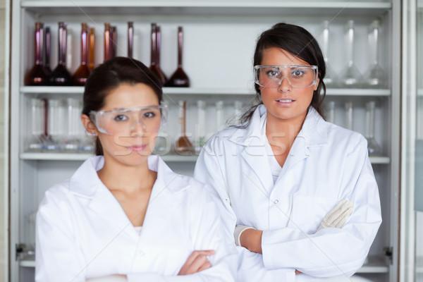 Serious female science students posing in a laboratory Stock photo © wavebreak_media