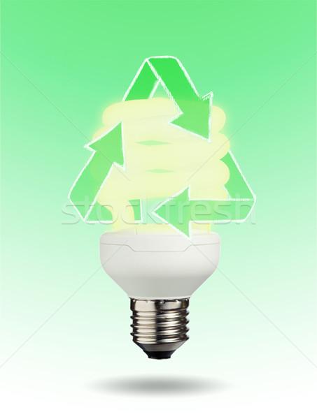 Ekolojik ampul yeşil teknoloji lamba enerji Stok fotoğraf © wavebreak_media