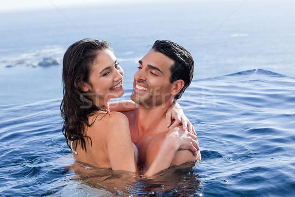 Amore Coppia altro piscina acqua Foto d'archivio © wavebreak_media