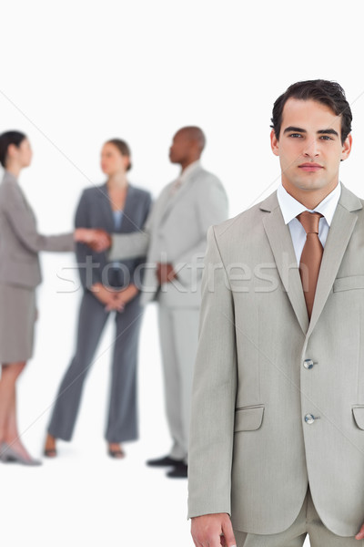 серьезный продавцом за белый бизнеса Сток-фото © wavebreak_media