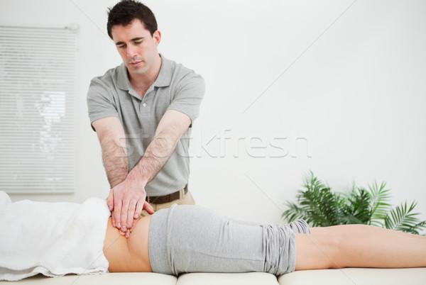массажист Постоянный назад пациент комнату Сток-фото © wavebreak_media