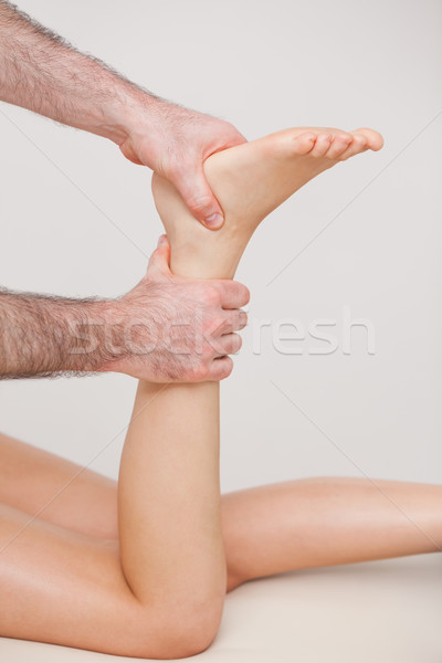 Stockfoto: Enkel · patiënt · kamer · medische · voet · vingers