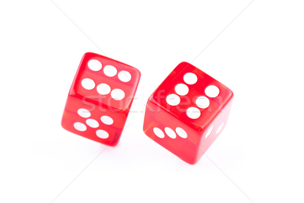Two dices rolled against a white background Stock photo © wavebreak_media