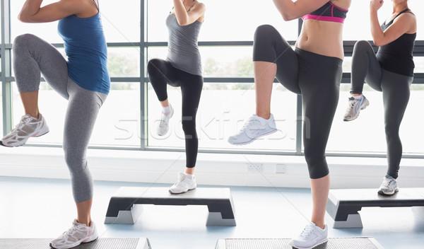 женщины ног аэробика спортзал спорт осуществлять Сток-фото © wavebreak_media