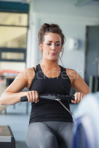 женщину подготовки машина спортзал спорт Сток-фото © wavebreak_media