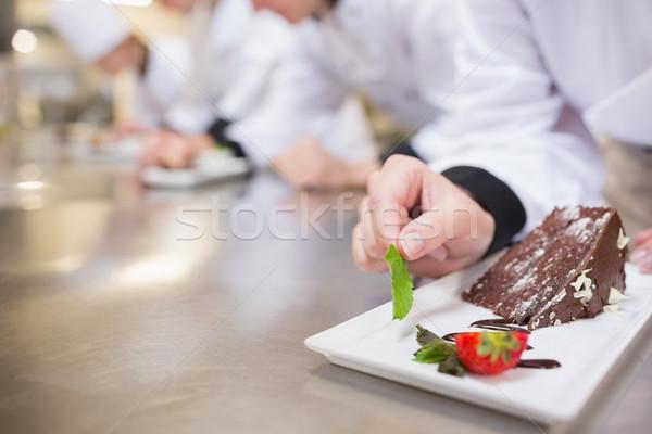 Kucharz kuchnia tle zespołu tablicy Zdjęcia stock © wavebreak_media