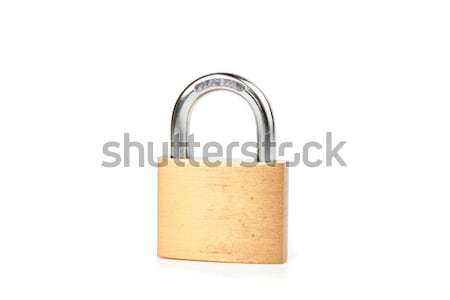 Locked padlock against white background Stock photo © wavebreak_media