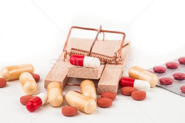 Colorato pillole filo vicino primo piano Foto d'archivio © wavebreak_media