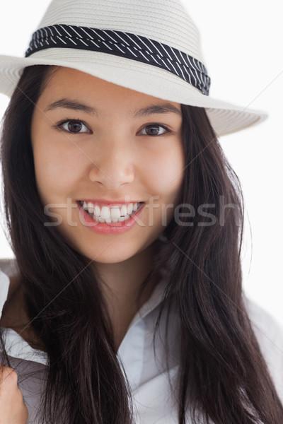Sorridere femminile bellezza indossare Hat felice Foto d'archivio © wavebreak_media
