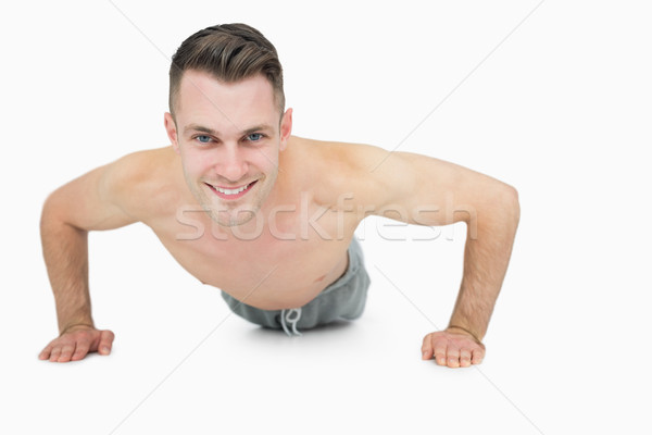 Portrait heureux torse nu homme jeune homme Photo stock © wavebreak_media