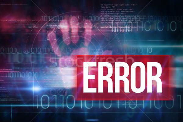 Error azul tecnología diseno código binario palabra Foto stock © wavebreak_media