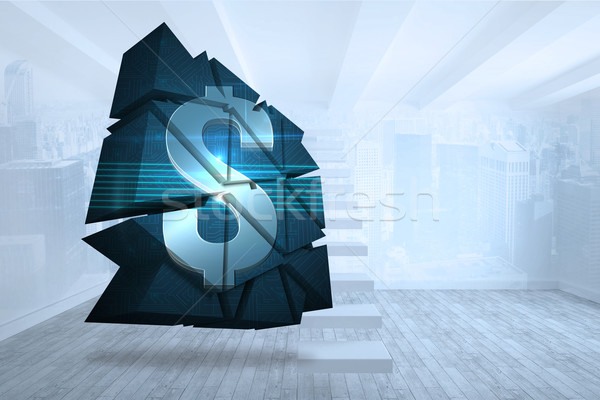 Bild Dollarzeichen abstrakten Bildschirm Stadt Stock foto © wavebreak_media