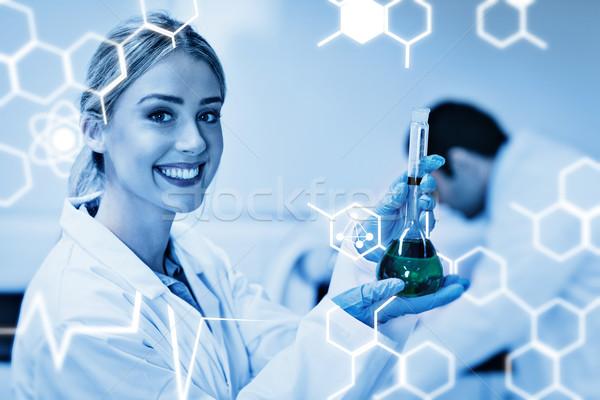 összetett kép tudomány grafikus diák tart Stock fotó © wavebreak_media