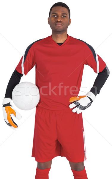 Portero rojo pelota blanco fútbol Foto stock © wavebreak_media
