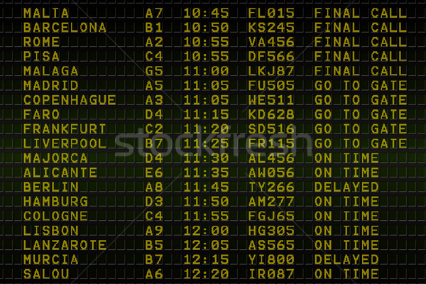 Black airport departures board Stock photo © wavebreak_media