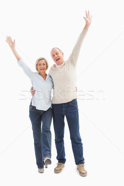 Feliz maduro casal câmera branco Foto stock © wavebreak_media