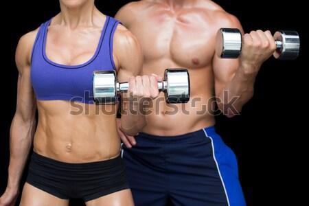 Sin camisa muscular hombre cadena Foto stock © wavebreak_media