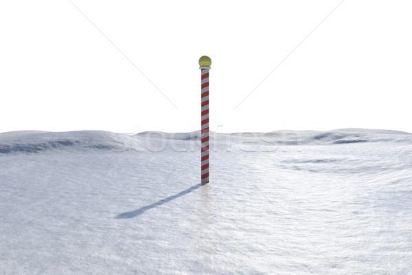 Digitálisan generált tájkép pólus fehér jég Stock fotó © wavebreak_media